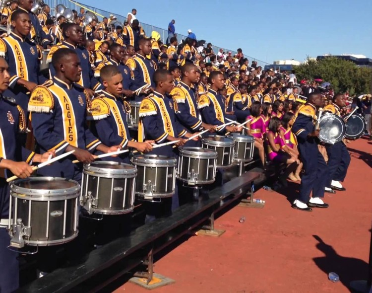 NC A&T drumline gives special performance at Crispus Attucks